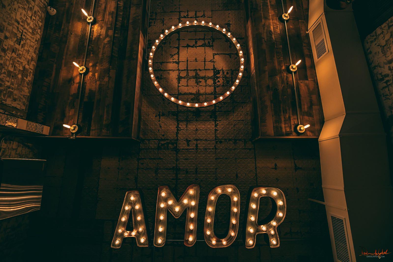 Amor signage at Princeton store